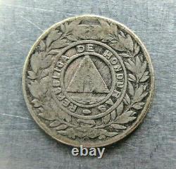 Honduras KM49 10 Centavos 1900 very nice grade. Rare year