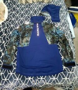 Huk Kryptek Blue Next Level All Weather Jacket/Bibs Mens XL VERY RARE COLOR