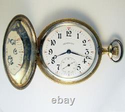 Illinois Grade 410 23 Jewel 12s Very Rare Hunting Case Top Grade Pocket Watch