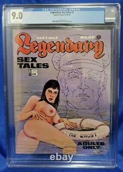 Legendary Sex Tales (1972) #1 CGC 9.0 Wht Pgs Ed Wood Only Copy Graded Very RARE