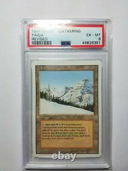 MTG Taiga Revised PSA 6 EX-MT Dual Land Reserve List Card! Very Rare And Graded