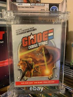 New G. I. Joe Cobra Strike Atari 2600 Sealed Wata Graded 9.4 A+ Vga very rare