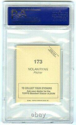 Nolan Ryanastrosvery Rare (pop 60) 1981 Topps Stickers Psa-10 Gem-mt Card #173