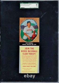 PETE RUNNELS 1958 HIRES ROOT BEER (With TAB) #38, SGC GRADED NM+ 7.5 VERY RARE