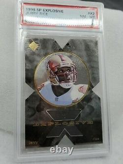 PSA 8 NM-MT Jerry Rice #X2 SP Explosive 1996 Card VERY RARE Upper Deck Graded