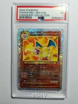 Pokemon Charizard PSA 1 PR Reverse Holo Rare Legendary Collection #3 Very RARE