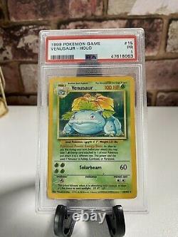 Psa 1 Venusaur Holo Pokemon Card Vintage 1999 Very Rare Graded Card