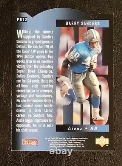 RARE 1994 BARRY SANDERS SP ALL-PRO HOLOVIEW DIE CUT Very Clean Sharp
