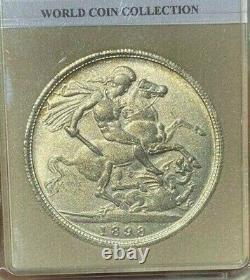 Rare High Grade 1898 Great Britain Silver Crown. Very nice Coin. 92.5% Silver