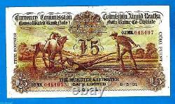 Rare IRISH PLOUGHMAN £5 The Munster & Leinster Bank Ltd 8.5.1931 Very High Grade