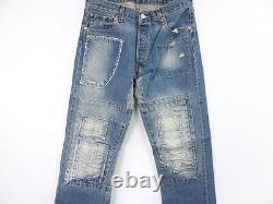 Redone Very Rare Vintage GRADE A Levis 501's JEANS BLUE MENS 34in. 34in. M542