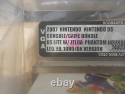 Sealed & VGA graded Zelda phantom hourglass limited DS LITE Console. Very rare