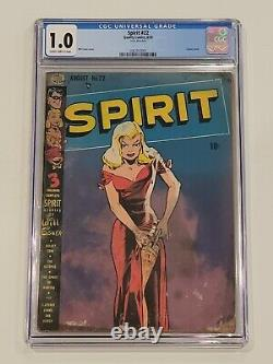 Spirit #22 CGC 1.0 Very Rare Book Looks Nice for the Grade Classic Cover 1950
