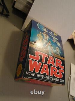 Topps STAR WARS Movie Photo Cards (1977) Empty Box HIGH GRADE VERY RARE