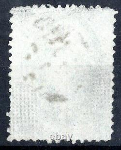 US # 136 (1870) 3c, Used GradeG, EFO Split Grill with3 pts Very Scarce Rare