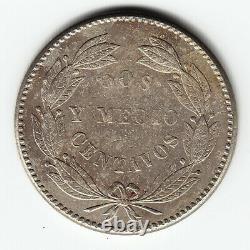 VENEZUELA 2½ centavos 1877 Y26 Cu-Ni 2-year type KEY date HIGH GRADE VERY RARE