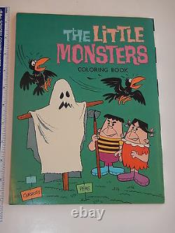 VERY RARE 1960s THE LITTLE MONSTERS COLORING BOOK HIGH GRADE UNUSED