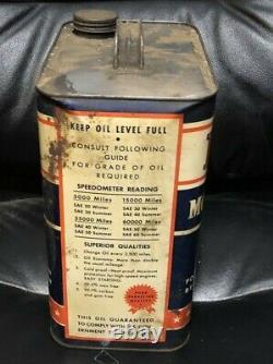 VERY RARE Vintage ORINGINAL 8 Quart PENGUIN MOTOR OIL CAN 2 Gallon HIGH GRADE
