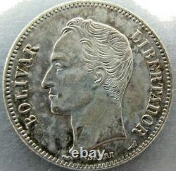 Venezuela 2 Bolivars 1912 sharp AU-UNC, once cleaned. Very rare grade