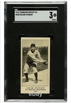 Very Rare 1916 D350-1 Standard Biscuit Oscar Stanage #168 SGC VG 3 Only Graded