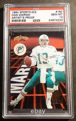 Very Rare 1994 Sportflics Dan Marino Artist Proof Psa 10 Dolphins Pop 1