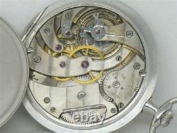 Very Rare 21 Jewel 45mm Platinum Top Grade Agassiz Gents Pocket Watch, Running