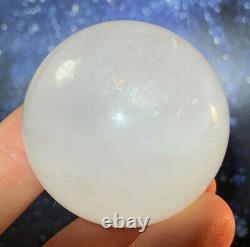 Very Rare A Grade Russian Natrolite High Vibration Synergy 12 Crystal Sphere