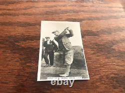 Very Rare Bobby Jones 1935 Golf Card High Grade