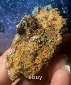Very Rare Gem Blue Serpierite Natural Aaa Grade Crystal On Matrix Lavrio Greece