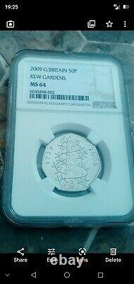 Very Rare Genuine Kew Gardens 50p coin 2009. Graded and Authenticated by NGC