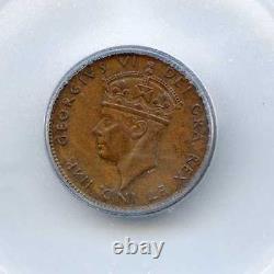 Very Rare High Grade 1944 C Newfoundland 1 Cent ICG Graded MS63 BN. Lot #2453
