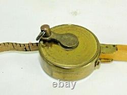 Very Rare Jones Patent Horse Measure Rule & Tape With Level Boxwood T5917