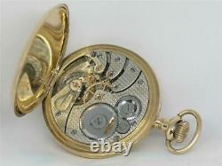 Very Rare Rockford 21 Jewel Railroad Grade 501 Solid 18k Pocket Watch, Running