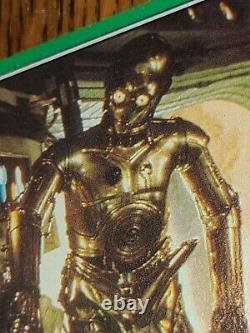 Very Rare original 1977 Topps Star Wars #207 C3PO Goldenrod error card Hi Grade