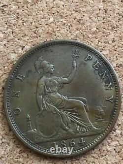 Victoria penny 1864 Very Rare Real Nice Grade