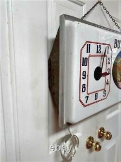 Vintage 1954 LACHNER / Very Rare MERITA BREAD Lighted Clock Sign High Grade Cond