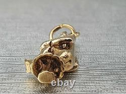 Vintage (1973) Very Heavy RARE 9ct Gold Goblin Toadstool Pendant Charm- GRADE A