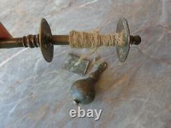 Vtg Antique Old Very Rare Ottoman Turkish Bronze Plumb Bob Level Masonry Tool